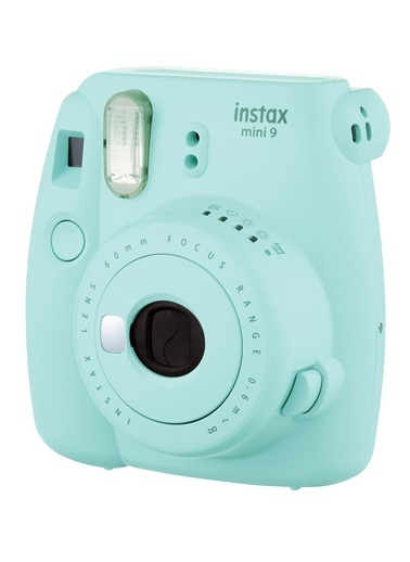 Fujifilm instax mini 9 Açık Mavi Fotoğraf Makinesi ve Deri Çanta Seti Mavi